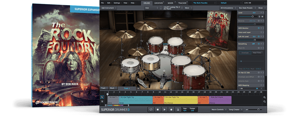 Ms big ass 65 The Rock Foundry Sdx Toontrack